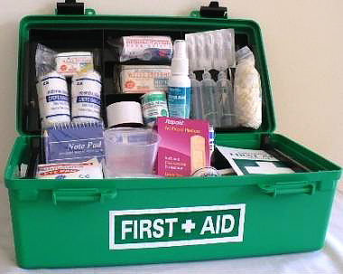 workplace general first aid kit portable plastic